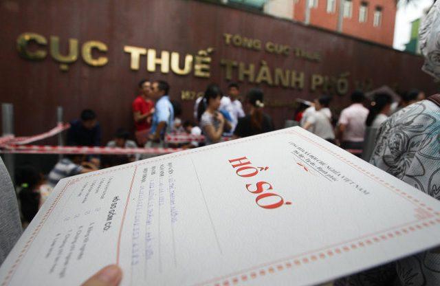 hồ sơ thi công chức thuế hà nội